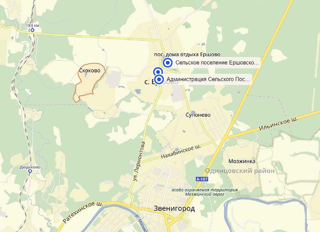 сельское поселение Ершовское, деревня Скоково