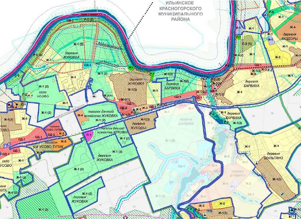Plan zemlepolzovanija Barvikhinskoe