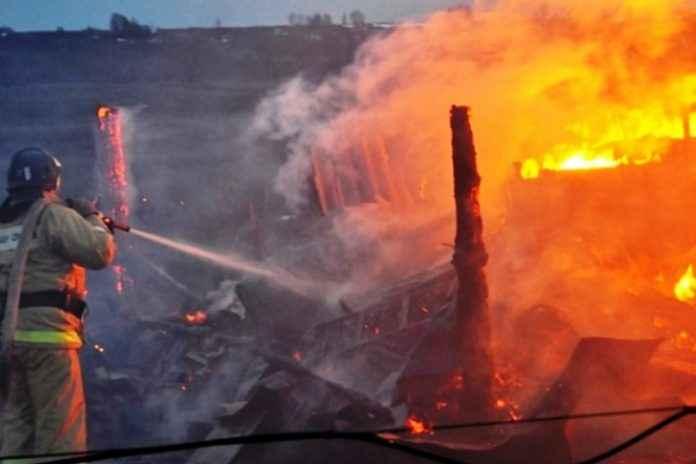 пожар рынок Старый Городок в Одинцовском районе
