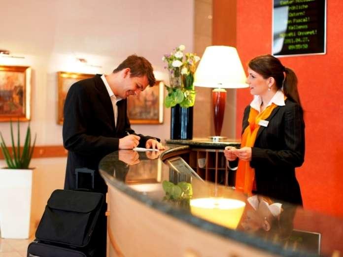 отель гостиница ресепшен