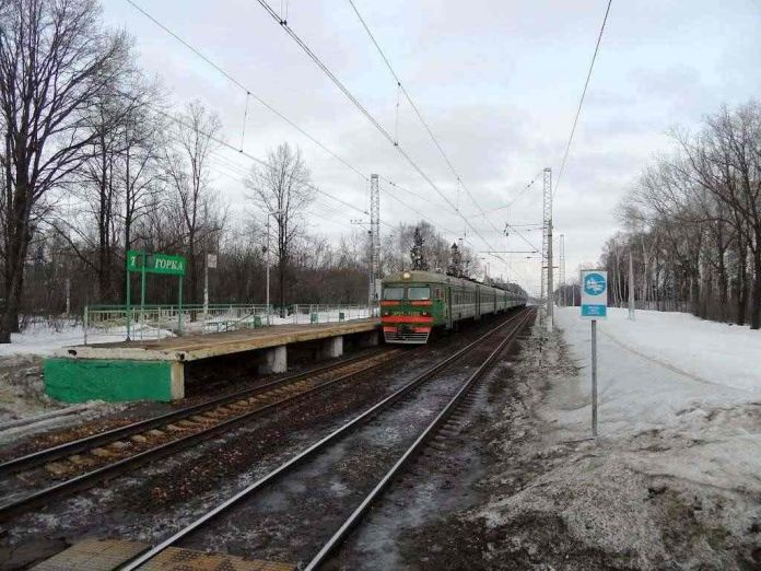 ж/д станция Трехгорка зима