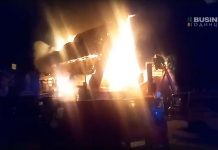Сгорел ресторан Сахара