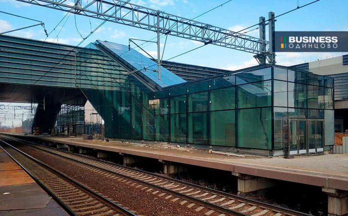 Станция метро в Сколково по состоянию на 1 апреля 2019 г.