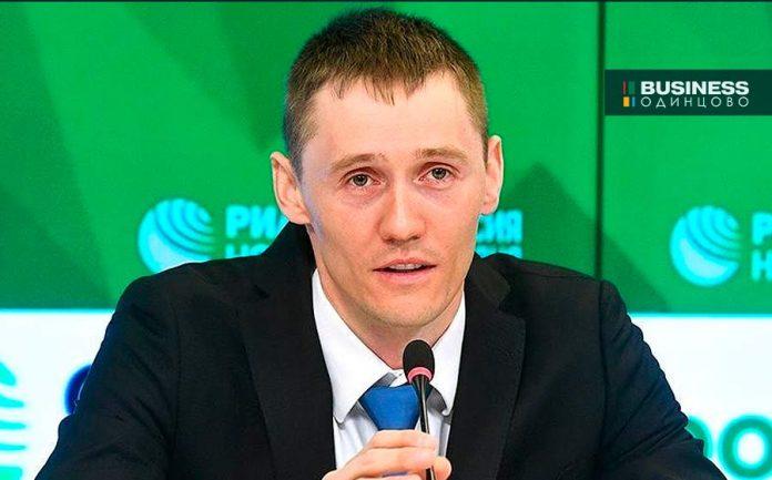 Олимпийский чемпион Никита Крюков на пресс-конференции в РИА Новости
