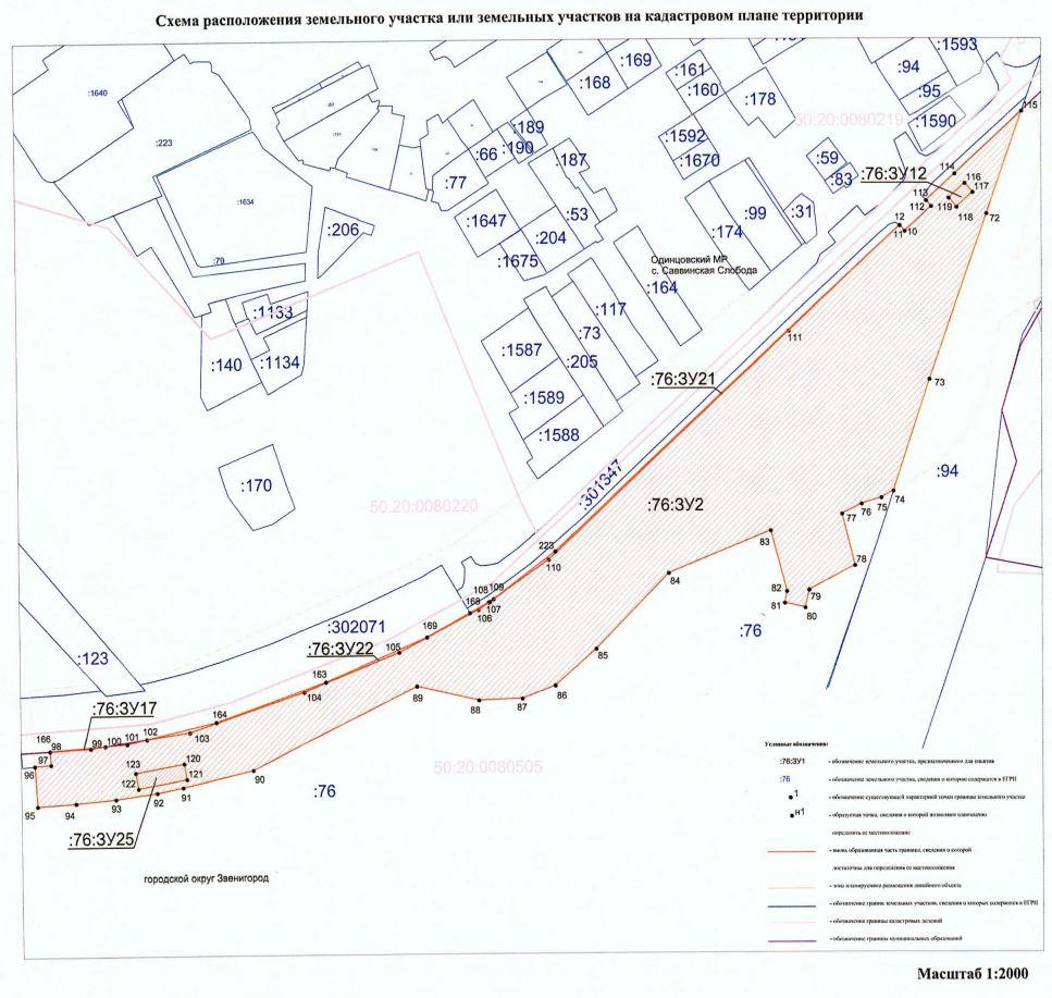 Схема расположения участков на кадастровом плане территории