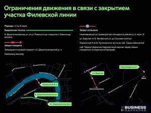 Ограничения движения метро на Филевской ветке