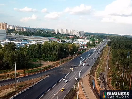 Разворот на Минском ш. в районе ЖК Одинцово-1