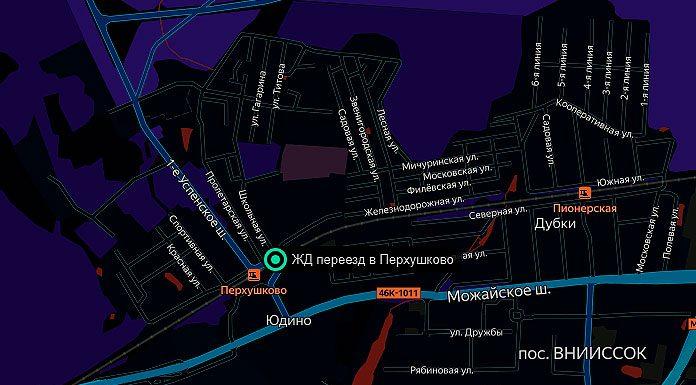 ЖД переезд в Перхушково