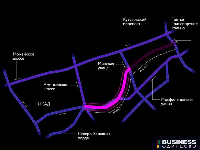 Южный дублёр Кутузовского проспекта - 1 очередь строительства