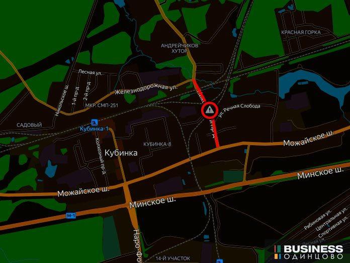 переезд на 63 километре перегона Петелино-Кубинка-1 (Никольское шоссе)