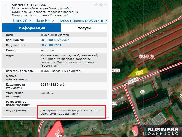 Строительство медицинского центра на ул.Говорова в Одинцово