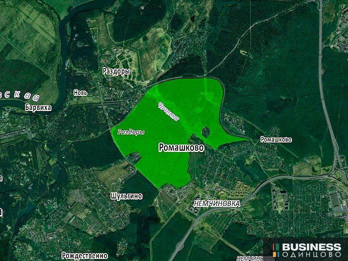 Земля, выделенная под парк Малевича