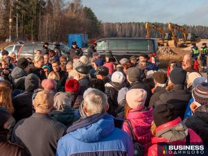 Протесты против разработки песчаного карьера в дер.Полушкино Одинцовского округа