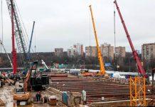 Строительство станции Кунцевская (Можайская)