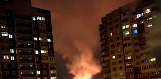 Пожар в Одинцово между ВНИИСОК и Юдино