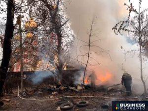Пожар на ул.Интернациональная в Одинцово
