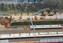 Строительство станции Славянский бульвар