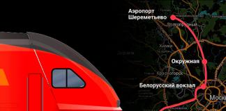 Аэроэкспресс Одинцово-Шереметьево