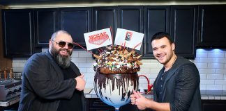Фадеев и Агаларов на открытии первого ресторана У дяди Макса