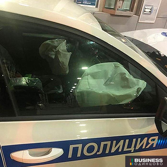Машина ДПС протаранила Роллс Ройс