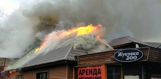 Пожар в Жуковке