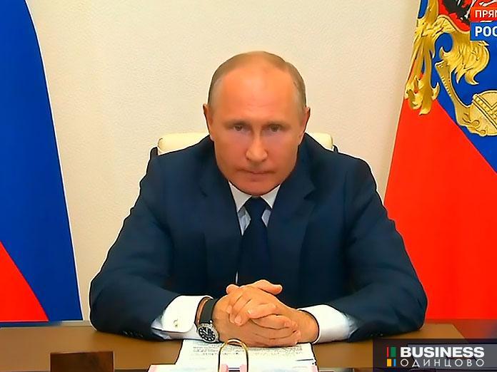 Владимир Путин на заседании с членами Правительства 11 мая