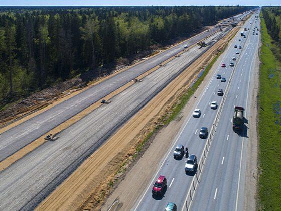 Реконструкция участка Минского шоссе