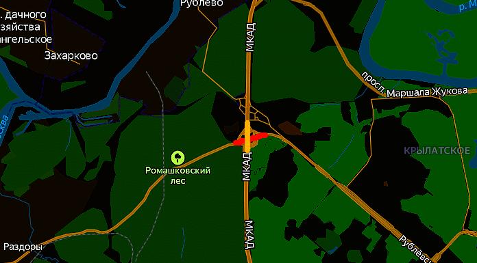 Перекрытие Рублево-Успенского шоссе