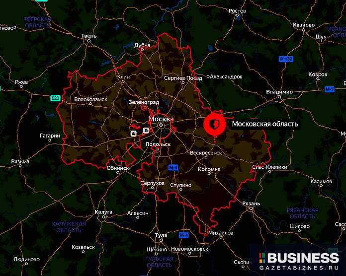 Московская область - карта
