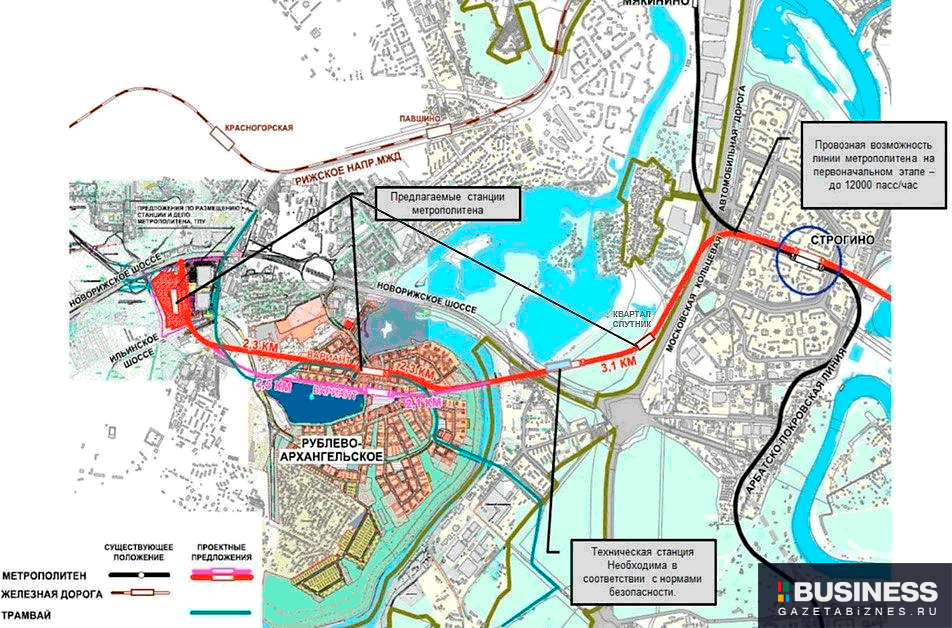 Проект Рублево-Архангельской ветки метро