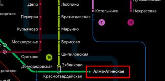 Станция метро Алма-Атинская