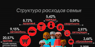 Структура расходов семьи