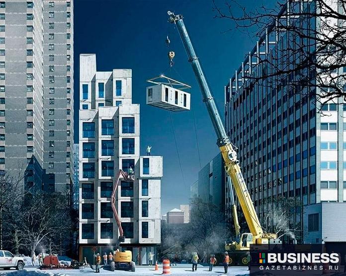 Пример строительства модульного дома