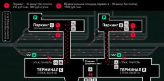 """Схема движения транспорта в зоне Терминала C аэропорта """"Шереметьево"""""""