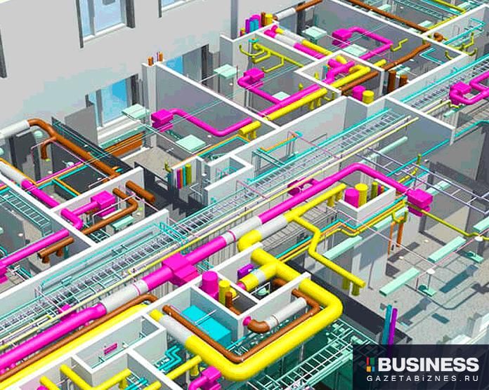 информационное моделирование зданий BIM (Building Information Modeling)