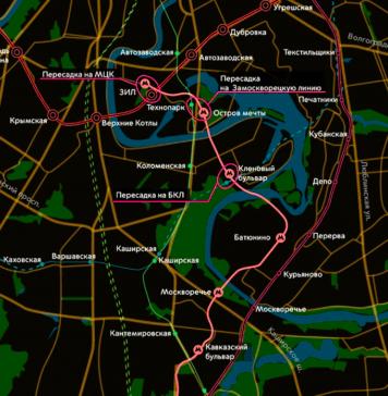 Проект планировки первого участка Бирюлёвской линии метро