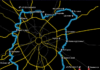 Схема ЛРТ (легкорельсовый транспорт) в Московской области